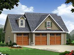 Plan 001G-0004 - 3 car garage, Washer/Dryer on first floor garage, bigger bedroom size, kitchen could be smaller