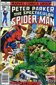 Spectacular Spider-Man Vol 1 21 Bronze Age by RubbersuitStudios Marvel Comics, Marvel Comic Books, Marvel Heroes, Comic Books Art, Comic Art, Ms Marvel, Book Art, Spiderman Man, Amazing Spiderman