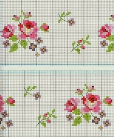 ♥ Benim açımdan Grafikler Cruz ♥: Çapraz Dikiş Güller grafikleri Grid, Cutting Board, Line, Le Point, Tableware, Crossstitch, Flowers, Cooking, Table Runners