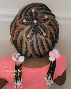 50 plus kids braids with beads hairstyles that are perfect for your little ones. # feed in Braids kids Kids braids with beads Little Girls Natural Hairstyles, Toddler Braided Hairstyles, Lil Girl Hairstyles, Black Kids Hairstyles, Natural Hair Styles For Black Women, African Braids Hairstyles, Curly Hairstyles, Natural Women, Kids Braids With Beads