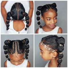 10 Holiday Hairstyles For Natural Hair Kids Your Kids Will Love Looking for the perfect holiday hairstyles for natural hair kids? In this post, I've searched the internet to put together a list of black kids hairstyles. Lil Girl Hairstyles, Black Kids Hairstyles, Easy Hairstyles For Medium Hair, Kids Braided Hairstyles, Holiday Hairstyles, Easy Hairstyles For Long Hair, Cornrow Hairstyles Natural Hair, Hairstyle Ideas, Teenage Hairstyles