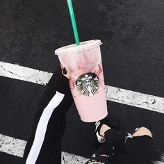✨ THE PINK DRINK  ✨ 〰 order strawberry ACAI refresher 〰 sub water for coconut milk 〰 add pump of vanilla  Props to @nikkilipstick for sharing this game changing @Starbucks drink hack w/ the world • TAG A FRIEND you wanna drink this bad boy with  #bestthingsinceslicedbread