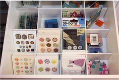 Embellissements, accents, tiroirs à séparateurs drawers
