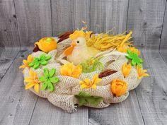 Sisalová slepice v hnízdě. Velikonoční dekorace na slámovém podkladu.  Ø 32cm  Pouze jeden originální kus. Origami, Origami Paper, Origami Art