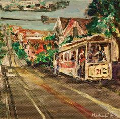 Cable Car at Powell Street San Francisco by marinelaArts on Etsy