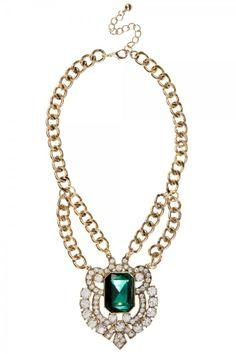 Primark LE Green Gem Necklace £8