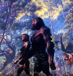 Australopithecus afarensis - reconstruction by John Gurche