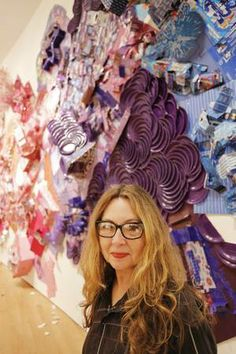 'Come on Down': New York sculptor Lisa Hoke creates large-scale works from paper cups, popcorn boxes and other recycled materials. Gloucestershire Resource Centre http://www.grcltd.org/scrapstore/