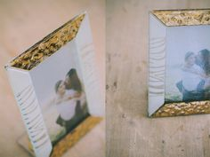 12,5 x 17,5 cm - White and Gold Glass Photoframe - Photographed by Gabriele Parafioriti Photography - Photo inside Taylor Lord