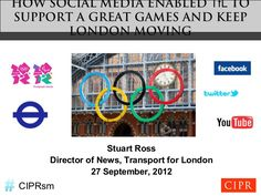 HOW SOCIAL MEDIA ENABLED TfL TOSUPPORT A GREAT GAMES AND KEEP       LONDON MOVING                   Stuart Ross     Director of News, Transport for London     …
