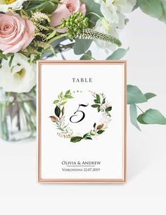 Floral Table Number Card Template, Boho Wedding Table Number Card Template, Floral & Greenery, Printable Table Card Printable SWTC110 #tablenumbercard #seatingtable #printabletablecard #weddingtablecard  #tablecardtemplate #weddingreception #tablenumbertemplat #seatingplan #tabledecor #floraltablenumber #greenerytablecards #bohotablenumber #greenerywedding #rustictablecards #modernwedding  #wedding #weddingdecorations #weddingplanning #weddinginspiration#floralwedding #seatingcharttemplate Card Table Wedding, Wedding Menu Cards, Wedding Table Numbers, Wedding Seating, Wedding Signs, Boho Wedding, Corporative Events, Photo Table Numbers, Seating Chart Wedding Template