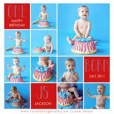 1 year cake smash session - cake smash - first birthday - first birthday photo ideas - baby boy first birthday