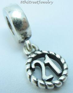 Pandora Sterling Silver 925 European Bead Charm 21st Birthday Dangle 790496 #Pandora #European
