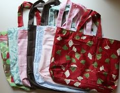 Free easy tutorial for reusable grocery bags