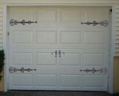 Decorative Garage Door Strap Dummy Hinge Set of 4 Carriage Door Strap Hinge