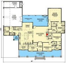 3 Bedroom Acadian Home Plan French Country Bonus Room Butler Walkin Pantry Study Architectural Designs Modify study into a kitchen eating area or push family roo. The Plan, How To Plan, Plan Plan, Acadian Homes, Acadian House Plans, Dream House Plans, House Floor Plans, My Dream Home, 3 Bedroom Home Floor Plans