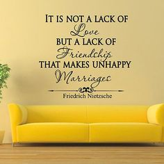 WALL DECAL VINYL STICKER FRIEDRICH NIETZSCHE QUOTE IT IS NOT A LACK OF LOVE SB19