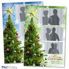 This layout kind of combines the traditional style photostrip with a postcard sized layout print. Christmas Photo Booth, Christmas Photos, Christmas Tree Star, Photo Tree, Postcard Size, Layout Design, Layouts, Cool Photos, Templates