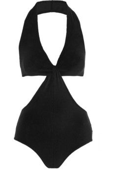 Lisa Marie Fernandez Deena cutout stretch-terry swimsuit | NET-A-PORTER