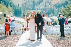 "After the ""I dos"", on top of a mountain, with all my closest friends and family - rustic elegant Park City Mountain, Mountain Resort, Closest Friends, Rustic Elegance, Fall Wedding, Real Weddings, September, Elegant, Top"