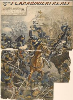 Battaglia di Custoza, carica dei Carabinieri Reali.