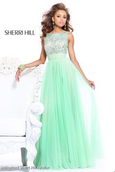 Designer Green Evening Gowns polyvore | Prom Dresses 2013 - Sherri Hill 11022 Green Long