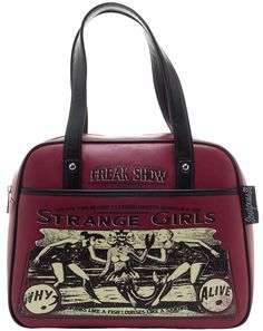 SOURPUSS STRANGE GIRLS BOWLER PURSE - Well this purse states the obvious.Strange and Proud!