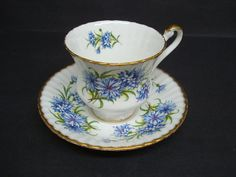 Antique Cup and Saucer   by Paragon  England  Blue ♥ by lasadana, $49.99