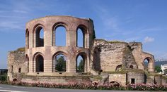 Imperial baths, a must visit in Trier, Germany