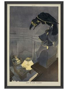 Quoth the Raven Nevermore by Artwork Enclosed on Gilt Home