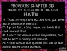 there are 6 things the lord hates - Google Search