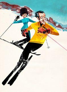 Jonas Bergstrand illustration vintage characters