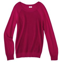 Mossimo Supply Co. Juniors Raglan Sleeve Textured Pullover - Assorted Colors