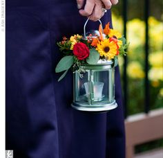 This bride wanted her bridesmaids to carry something unexpected. The answer? Silver lanterns topped with clusters of fresh flowers. Then these would be EASY to set down as part of the centerpieces! Lanterns With Flowers, Silver Lanterns, Wedding Lanterns, Wedding Decorations, Wedding Night, Fall Wedding, Our Wedding, Wedding Ideas, Wedding Tokens