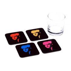 David Ben Gurion Coasters - Set of 4 Coasters - ofek wertman jewish gifts & Israeli Gifts Jewish Gifts, Coaster Set, David, How To Make, Handmade, Souvenir, Hand Made, Arm Work