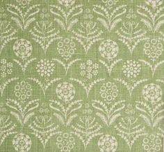 Paradeiza in Neem from Lisa Fine Textiles #fabric #linen #green