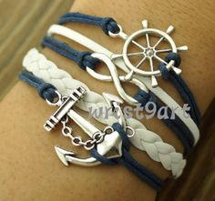 Infinity anchor bracelet. I LOVE THESE!. I would DIE if I had them!