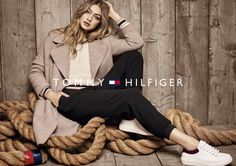 Gigi Hadid poses with nautical ropes in Tommy Hilfiger's fall campaign