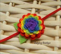 Cute rainbow flower