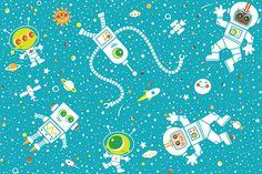 Space Pattern on Behance