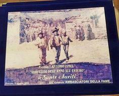 """Insigniti Marcello Maviglia, accademico in Usa e studioso dei Nativi, e Sante Auriti, maestro artigiano dei pianoforti Stenway. Premio """"alla memoria""""..."""