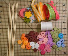 Portal de Manualidades: Flores de fieltro y botones para el día de las madres