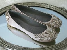 Spring Garden Bridal Ballet Flats Wedding Shoes -