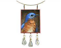 Christina Goodman - Bluebird pendant with labradorite