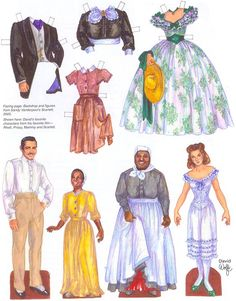 GONE WITH THE WIND. Унесённые ветром. Paper Dolls by David Wolfe.