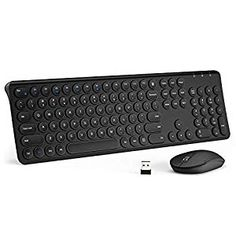 Long Battery Life Ultra Slim Whisper-Quiet USB Wireless Keyboard and Mouse Combo with Ergonomic Wrist Rest Color : Pink
