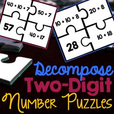 Decompose Two-Digit Number Puzzles prepare students for two-digit addition and subtraction.