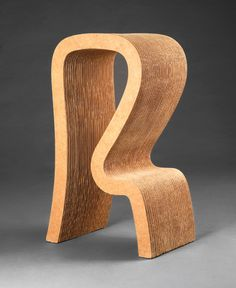 Frank Gehry, 'High Stool,' 1971, corrugated cardboard, masoniteand wood