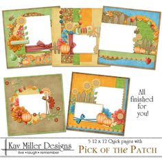 Kay Miller Designs - Pick of The Patch 12 x 12 Quick Pages