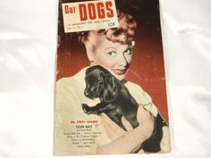 Vintage 1954 Magazine for Dog Lovers with Lucille by Beadgarden55, $2.00